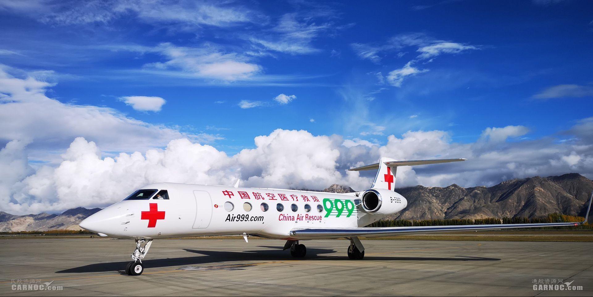 南山公务机2天内执行2次拉萨航空医疗转运任务