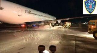 起落架起火,达美航空客机中断起飞