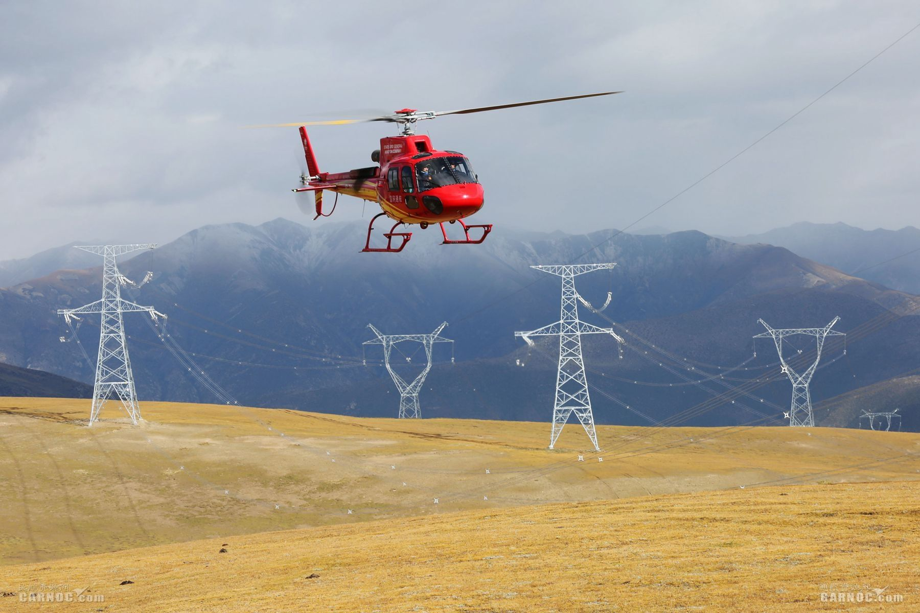 护卫电力天路 国网通航藏中联网直升机试航巡侧记