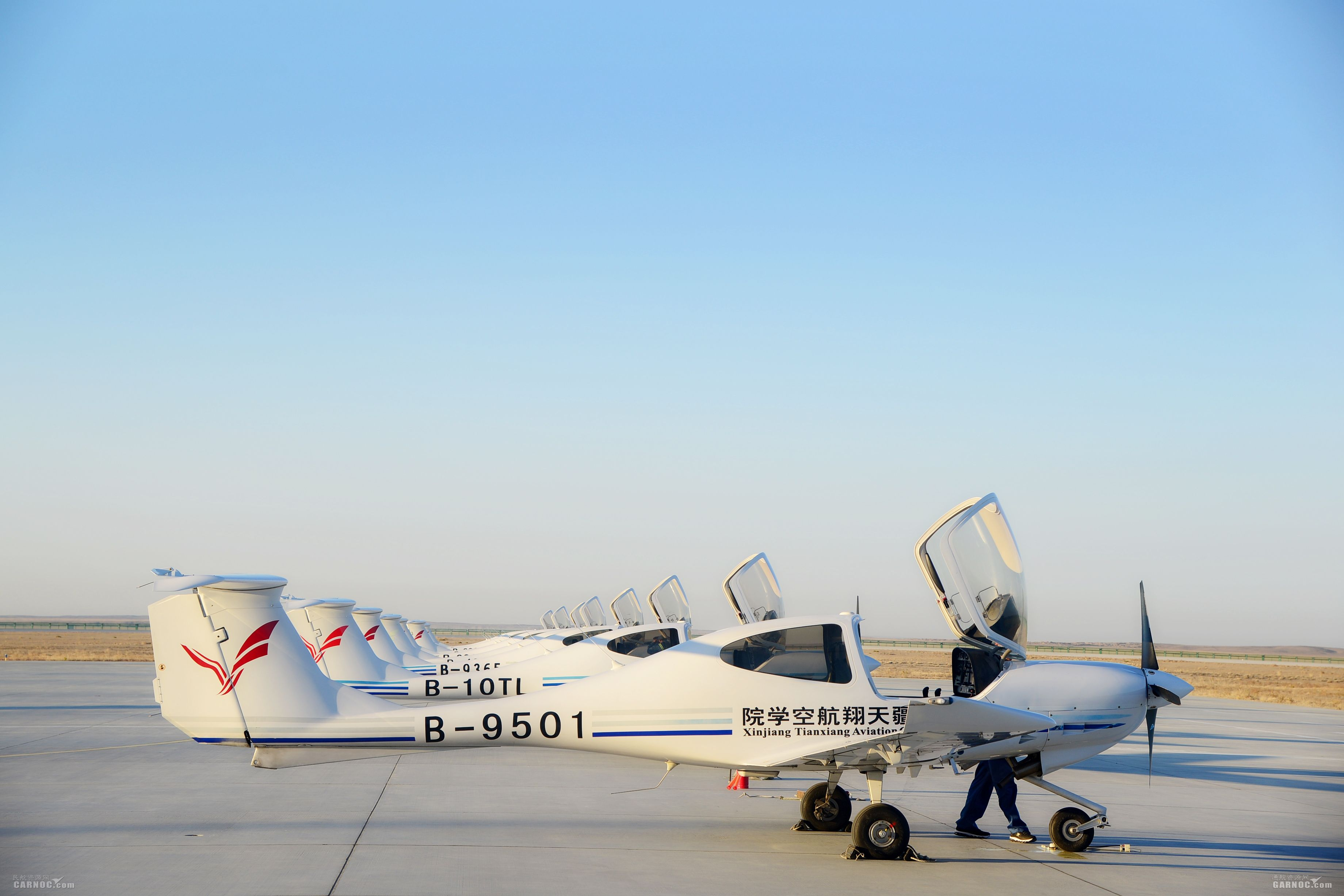 天翔航院富蕴基地迎来秋冬季新一轮飞行训练