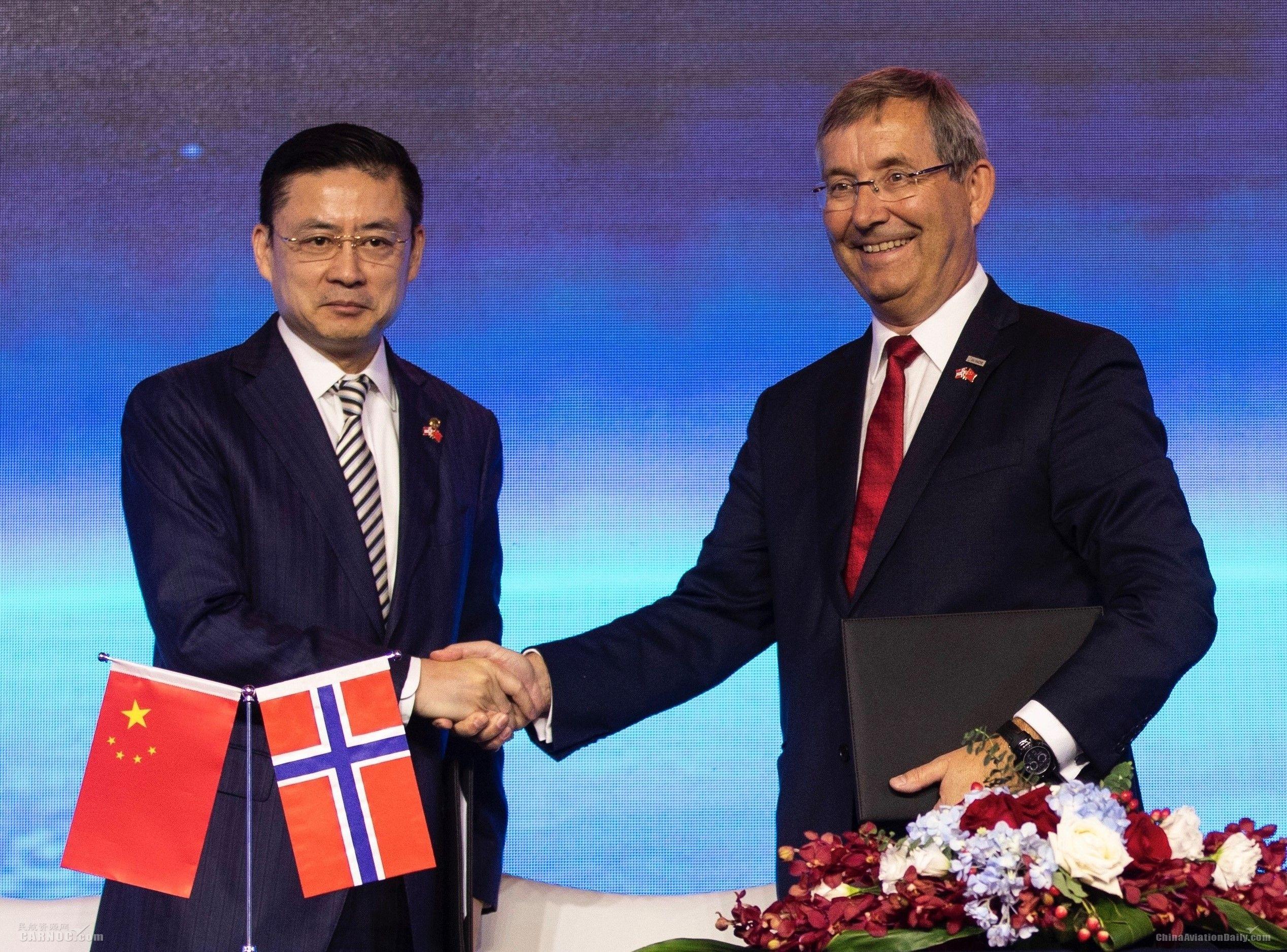 海南航空2019年将开通首条中国至挪威直飞航线