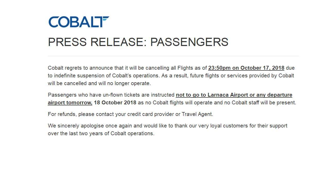 民航早报:塞浦路斯深蓝航空宣布无限期停运