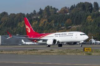 昆明航空首架737MAX 8试飞,离交付不远了!