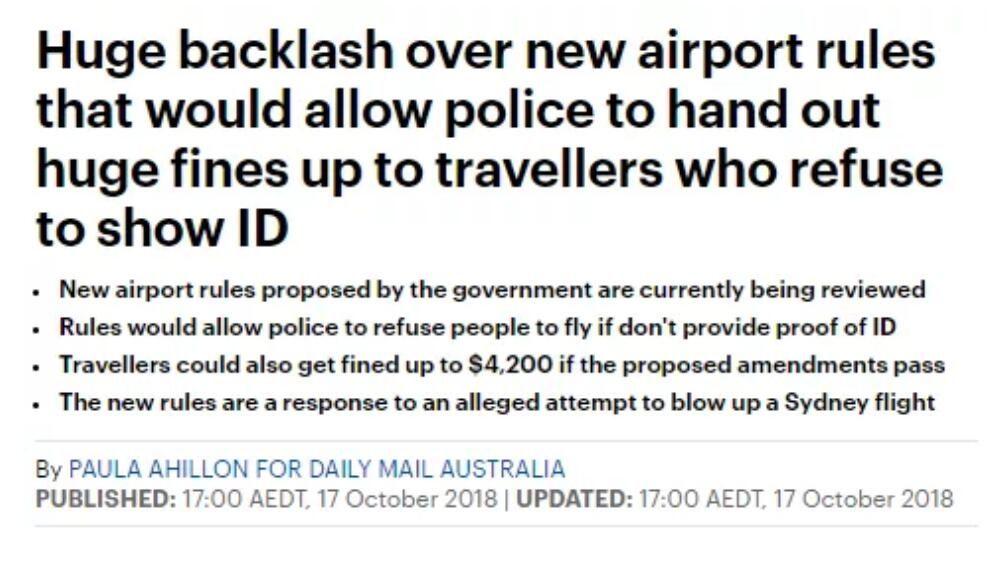 澳洲机场拟实施新政!违者将重罚$4200