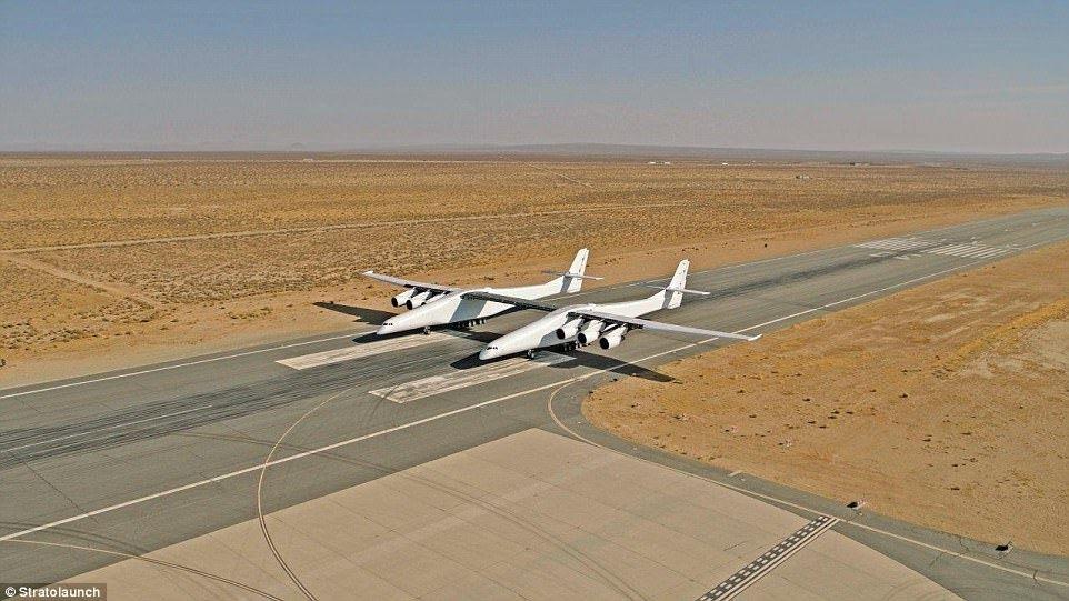 2017年12月,Stratolaunch在一次测试飞行中。来源:Stratolaunch公司官网