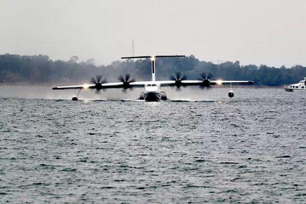 图片 喜讯!国产大型水陆两栖飞机AG600水上首飞