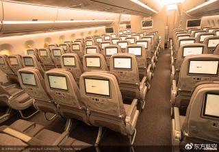东方航空A350飞机内部细节大爆照!