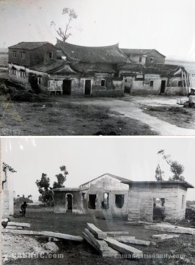 建设前的原高崎机场与候机楼旧貌