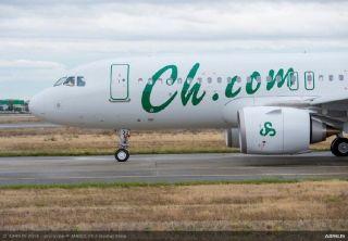 春秋航空喜提第一架A320neo飞机! 图片来源:空客