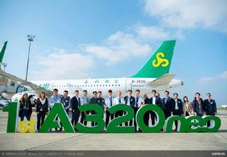 春秋航空喜提第一架A320neo飞机!