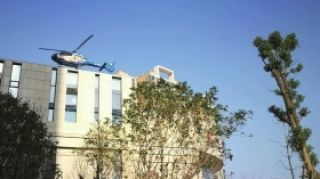 湖南長沙:直升機樓頂起降 居民投訴
