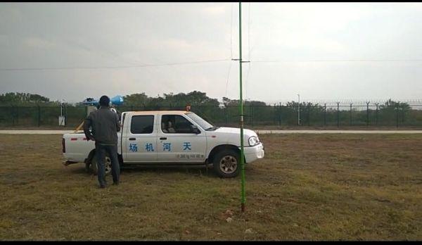 武汉天河机场开展冲击波雷音炮驱鸟测试