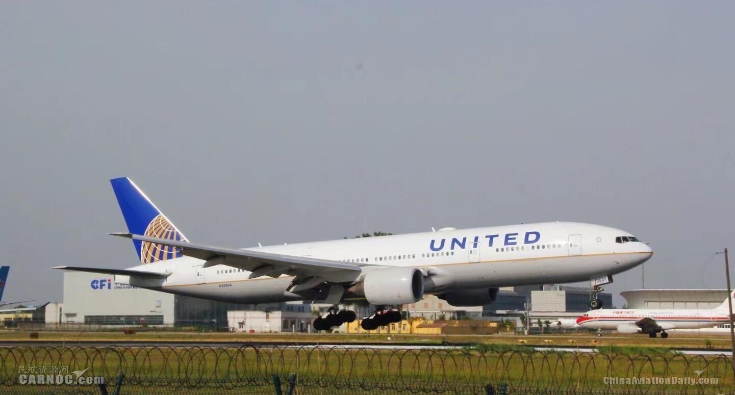 美联航计划2020年开通第二个纽瓦克-上海航班