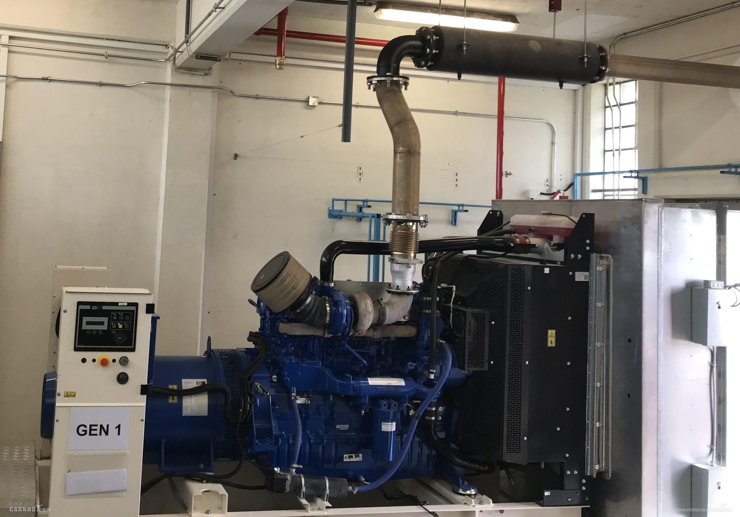 澳门机场三组新增备用应急发电机系统正式使用