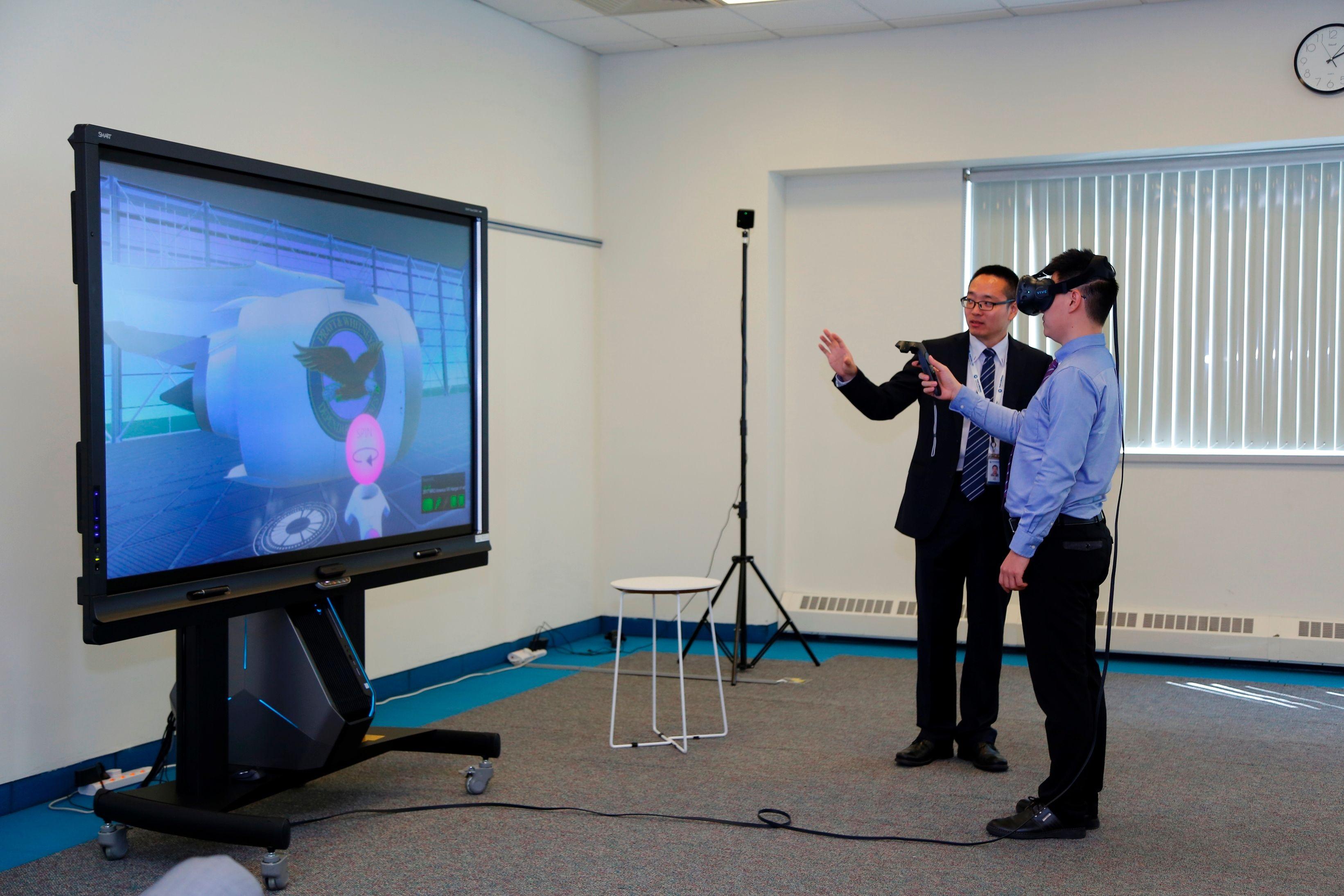 普惠中国客户培训中心的虚拟现实培训