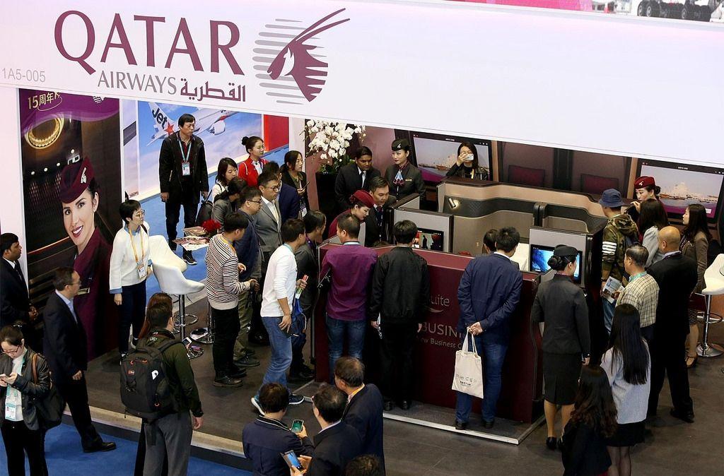 中国国际进博会卡塔尔航空展位