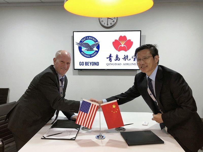 青岛航空现身珠海航展 与普惠签署谅解备忘录