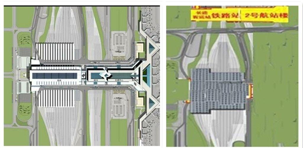左:通常的一体化综合交通枢纽