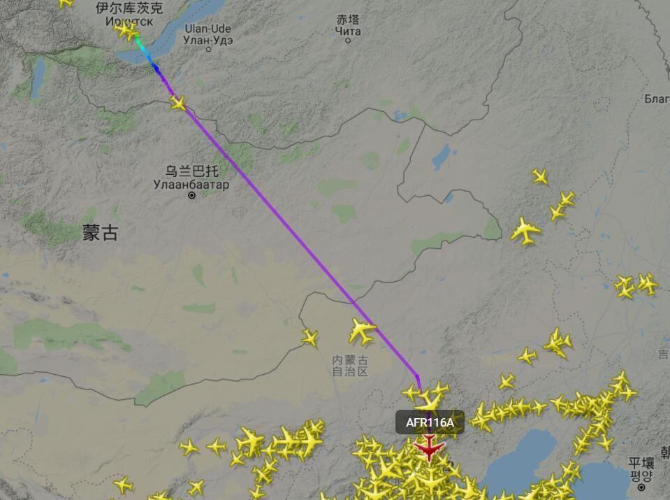 法航飞往上海航班备降在俄罗斯 派飞机接乘客又遇到故障