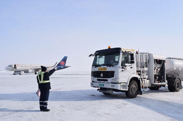 """中国航油内蒙古浴""""雪""""奋战 拼搏收官"""