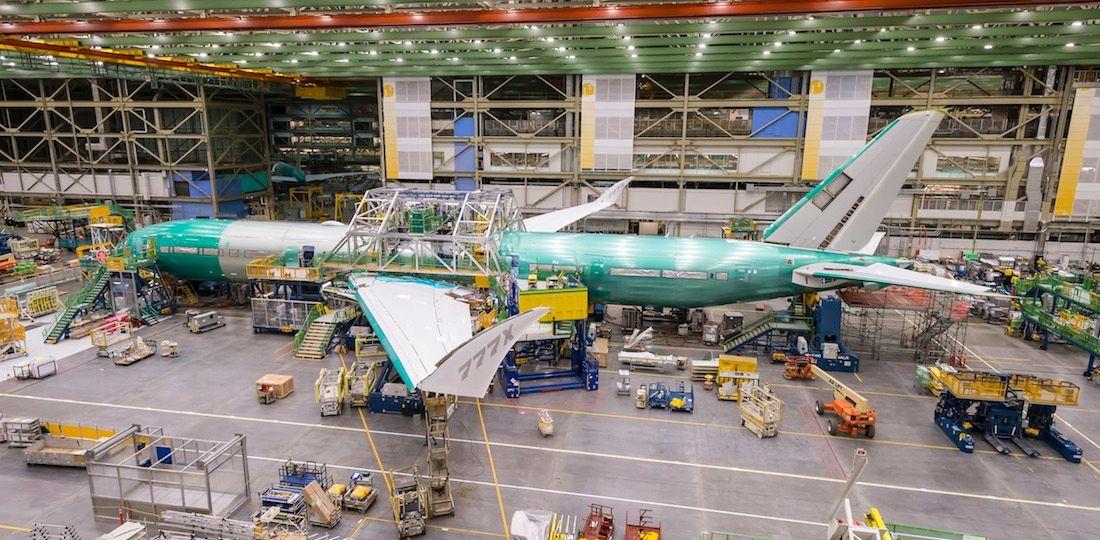 民航早报:波音首架777X测试机完成机身组装