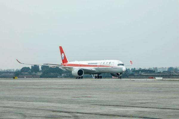 川航第二架A350抵蓉 机队规模扩大至145架