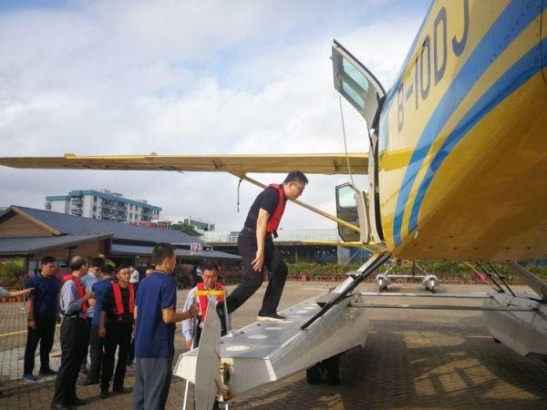 北海市相关人员考察幸福运通航水上飞机项目|新闻动态-飞翔通航(北京)服务有限责任公司