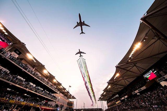 超燃!阿提哈德航空F1涂装787-9携A380飞越F1赛场
