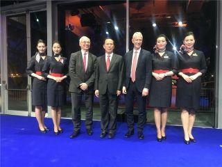 直击东航首架A350客机交付仪式 明日将回国