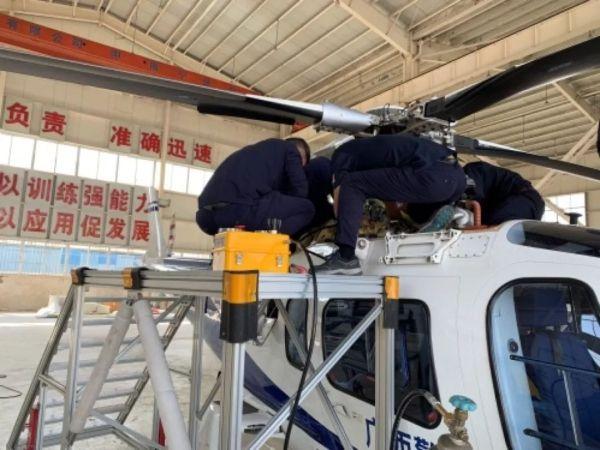 北京通航完成南宁警航A109E型直升机年检工作