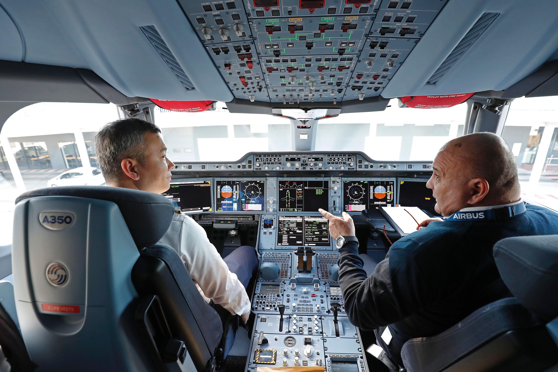 东航A350驾驶舱