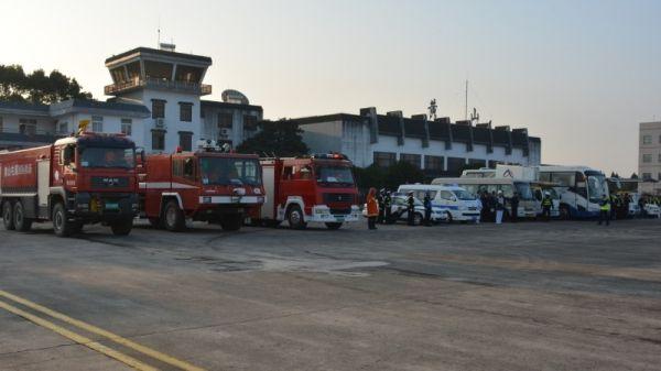 黄山机场开展2018年度应急救援综合实战演练