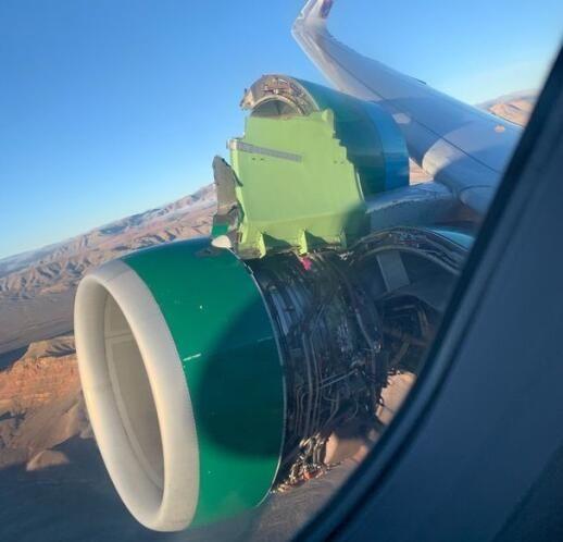 驚險!邊疆航空客機引擎整流罩脫落 無人受傷