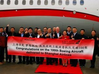 上航迎来第100架波音飞机 机队规模达到105架