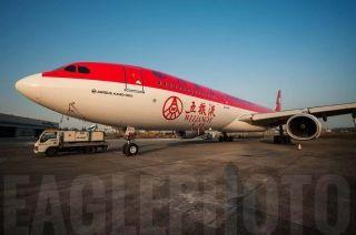 """川航""""五粮液号""""A330 展现不一样的美"""