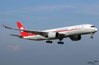川航最新A350飞机珠海训练美照集锦