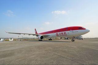 """两架川航""""五粮液号""""A330新装启航"""