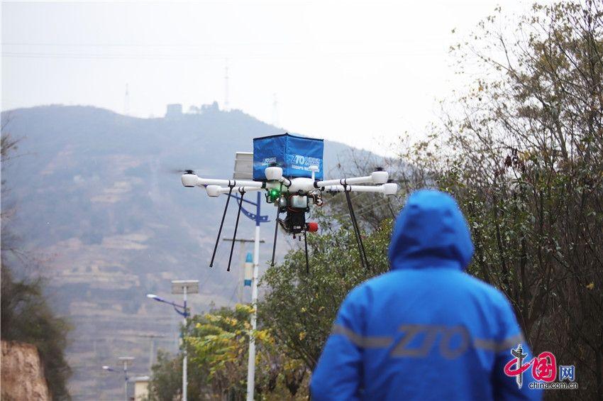 中通最新发布的油电混合无人机完成首飞