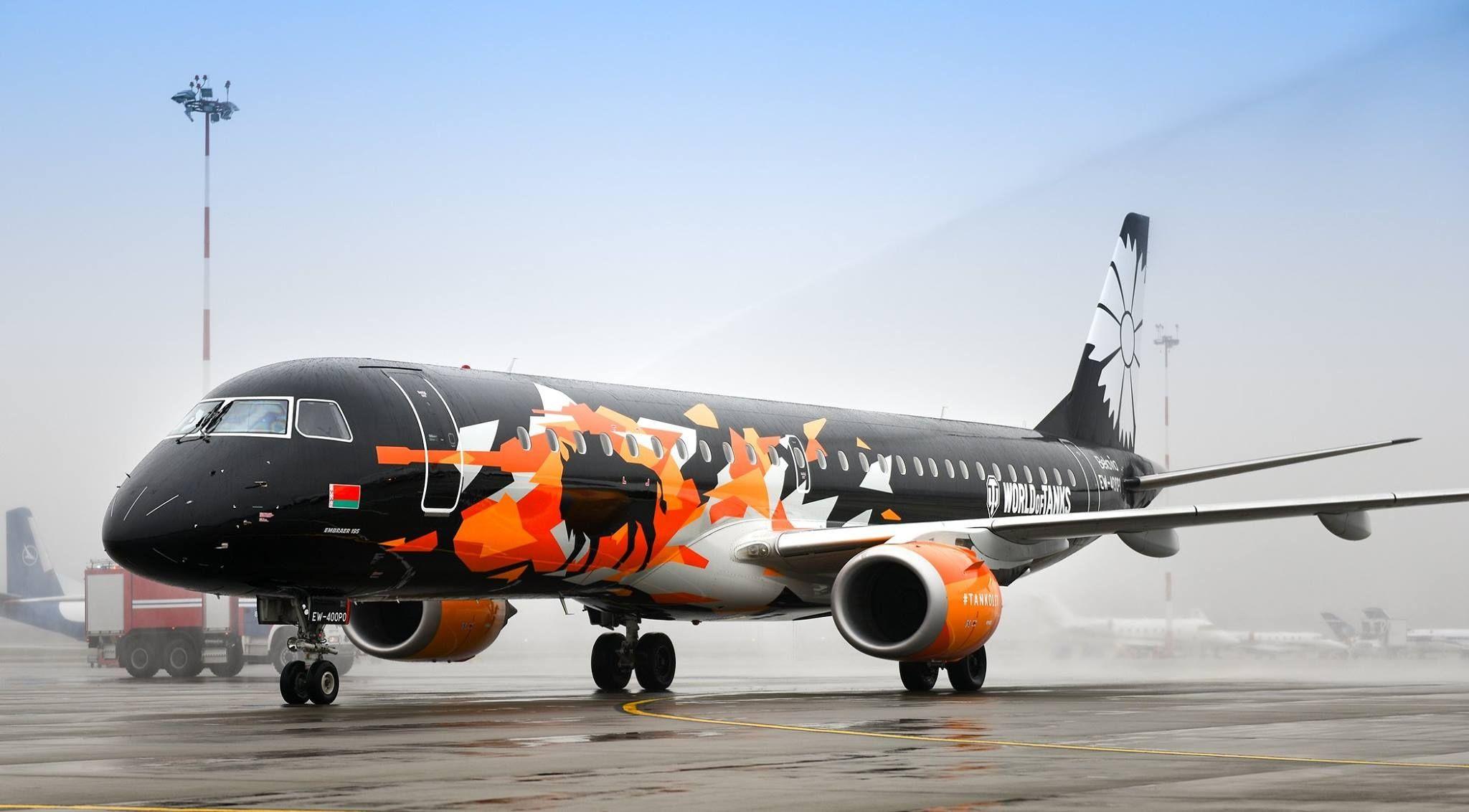 来战吧 白俄罗斯航空推出《坦克世界》主题彩绘机