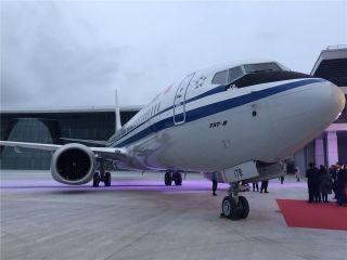 舟山波音完工和交付中心交付首架737MAX飞机 摄影/姚晓岚