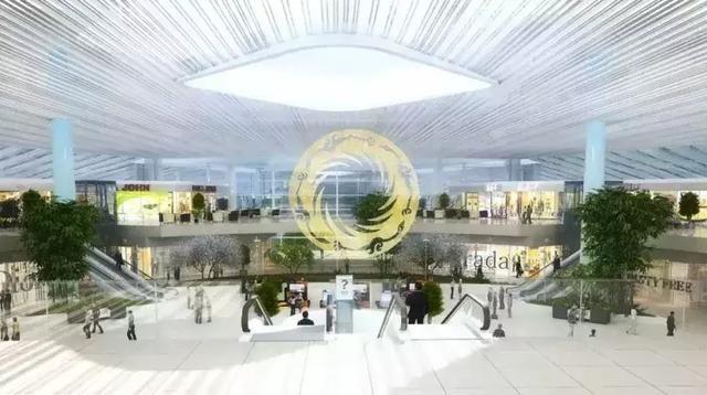 天府国际机场候机厅、登机口.