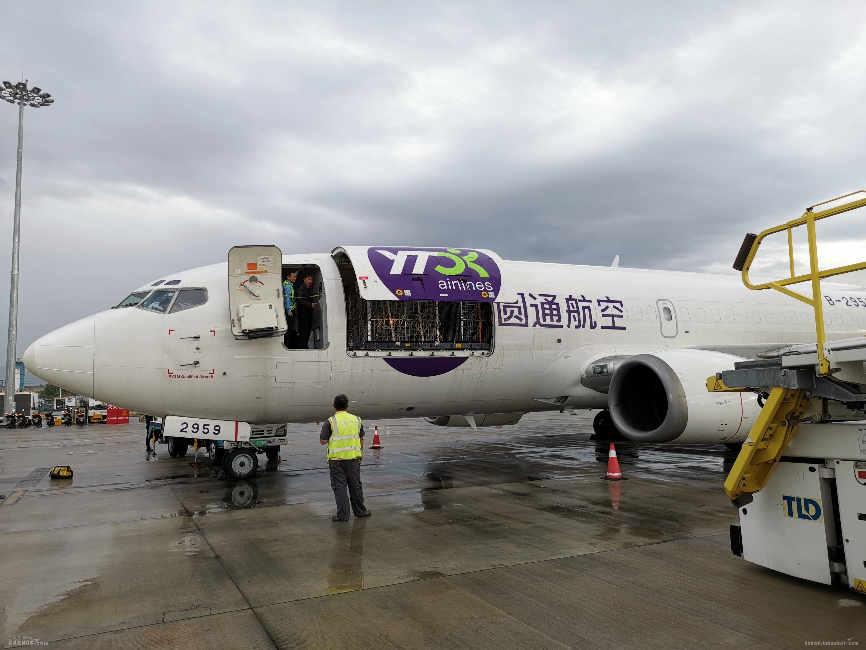 三亚机场完成活体动物包机保障任务
