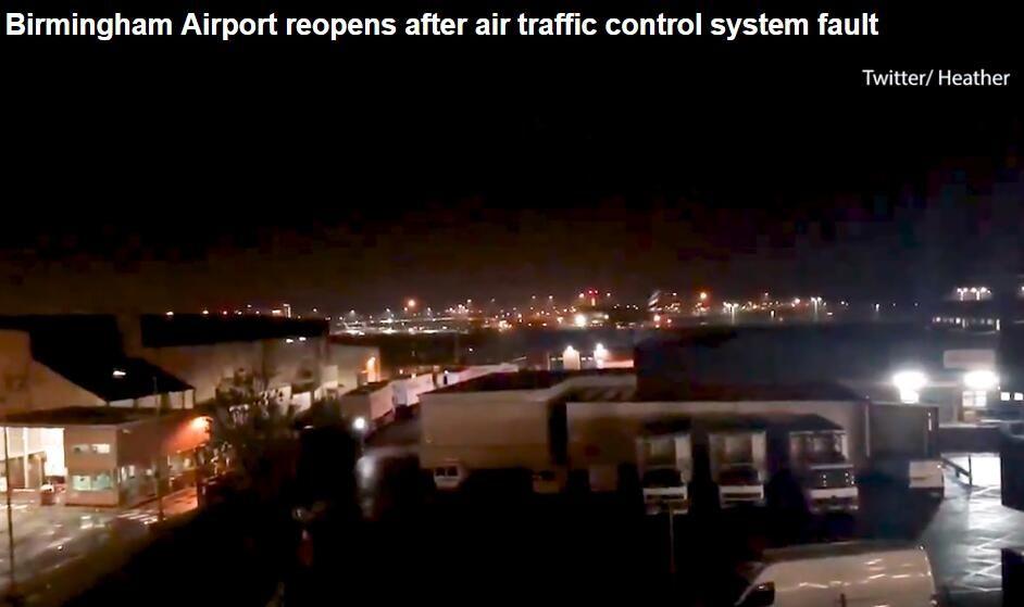 伯明翰機場空管系統故障 2小時暫停起降后恢復運營
