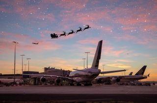 澳航官宣: 圣诞老人的SC01航班降落悉尼机场!