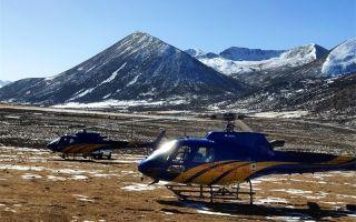 新建川藏鐵路航空物探 同誠通航首飛成功