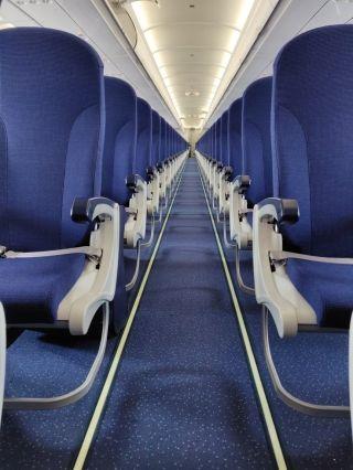 靛蓝航空接收印度首架空客A321neo飞机 图片来源:靛蓝航空推特
