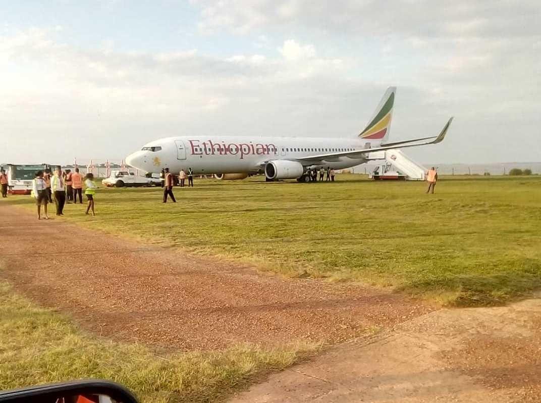 埃塞俄比亞航空客機降落后沖出跑道 無人受傷
