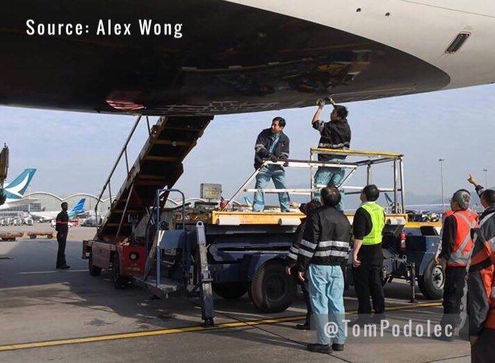 初期报告:上月加航飞抵香港时机身触及跑道