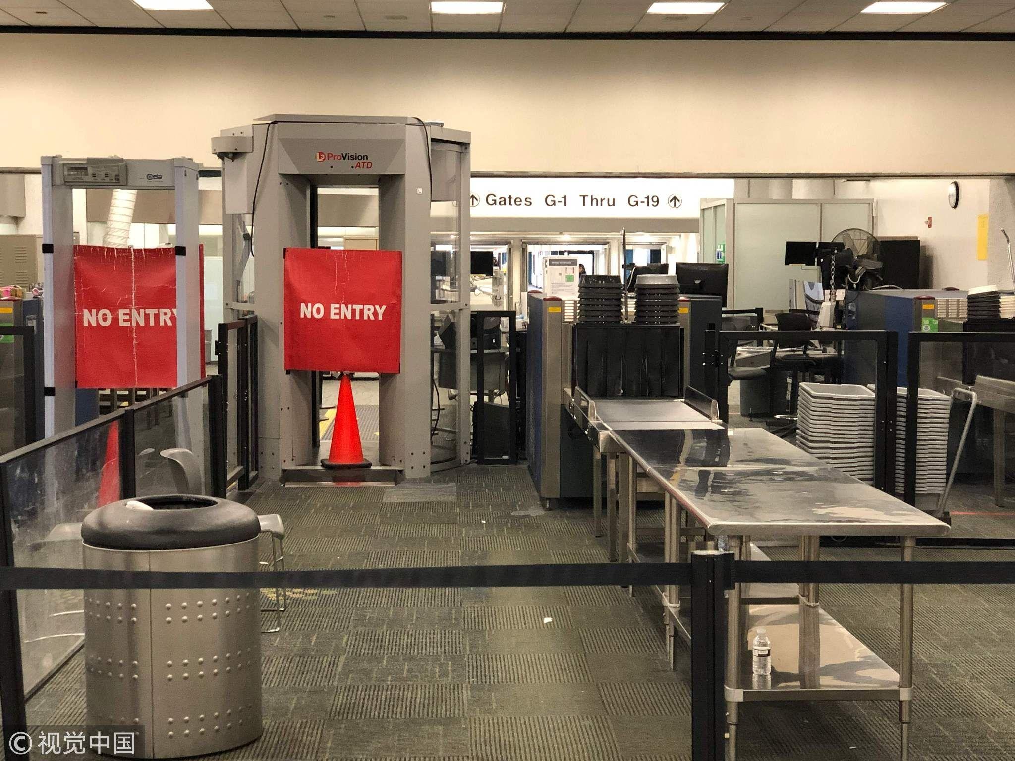 美政府停摆或考验机场安检 携枪旅客曾无障碍登机