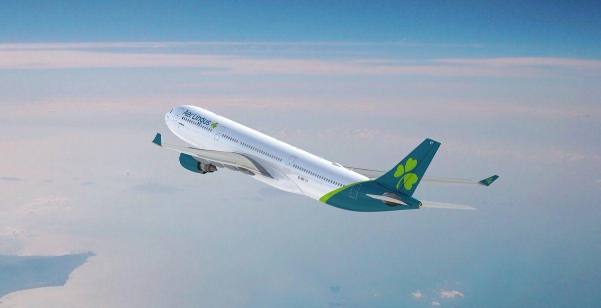 爱尔兰航空新涂装A330飞机华丽亮相 白色为主设计更加简洁